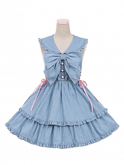 Pussycat Doll Sailor Collar Backless Dress by To Alice