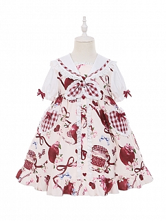 Big Apple Series Sailor Collar Lolita Dress OP for Kids by To Alice