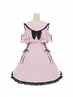 Sailor Collar Open Shoulder Lolita Dress OP by To Alice