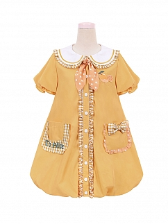 Sweet Summer Orange Lolita Dress for Kids by To Alice