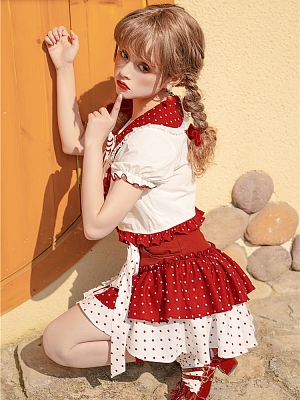Strawberry Popping Candy Sweet Lolita Top / Skirt Set by To Alice