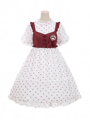 Sweet Afternoon Tea Lolita Dress Vest Set by To Alice