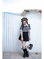 Summer Date Basic Black Pleated Skirt by To Alice
