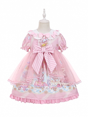 Sweet Mouse Prints Lolita Dress OP for Kids by To Alice