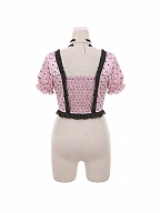 Bubble Sweet Tea Sweetheart Neckline Lolita Dress JSK / Top Set by To Alice
