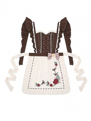 Little Red Riding Hood Rose Thorns Country Style Lolita Apron by To Alice