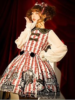 Circus Stripe Lolita Dress JSK Set by The Ann of April