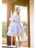 The Nine-Colored Deer Qi Lolita Dress Full Set by Garden Cat