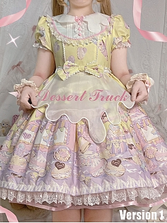 Dessert Cart in Amusement Park Series Matching Apron with Embroidery by The Dolls Daydream