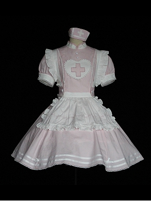 Soul Ingester Nurse Style Lolita Dress OP by Tibetan Fox and Shiba Inu