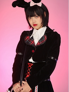 Sweetheart Fold-over Collar Cool Mini Jacket by Evil Tooth