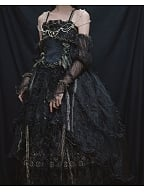 Miss Death Elegant Lolita Black Underskirt by This Time