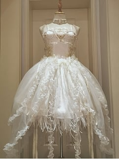 Miss Death Elegant Lolita Dress JSK White Full Set by This Time