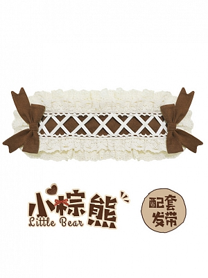 Little Bear Classic Lolita Dress Matching Hairband / Ear Hairclips by Honey Machine