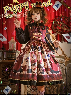 Puppy Band Lolita Dress JSK by Honey Machine