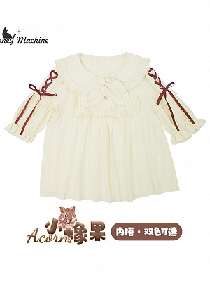 Little Acorns Sweet Lolita Dress Matching Short Sleeve Blouse by Honey Machine