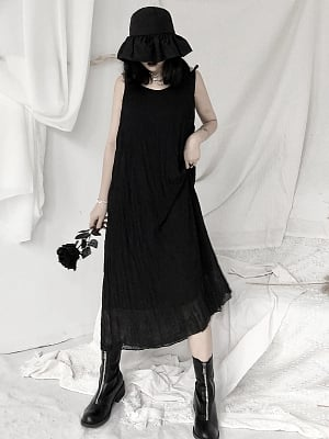 Gothic V-neck Long Cami Dress by Unspeakable Dark Paranoi