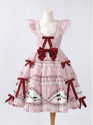Acerola Cherry Pink Lolita Dress JSK by Violet A Lolita