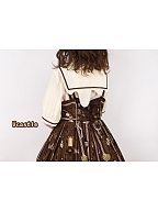 Melted Chocolate Sailor Collar Lolita Shirt by Vcastle
