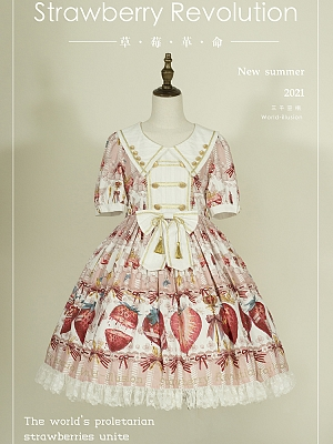 Strawberry Revolution Short Sleeves Sweet Lolita Dress OP by World Illusion