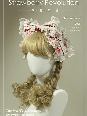 Strawberry Revolution Series Sweet Lolita Bowknot KC by World Illusion