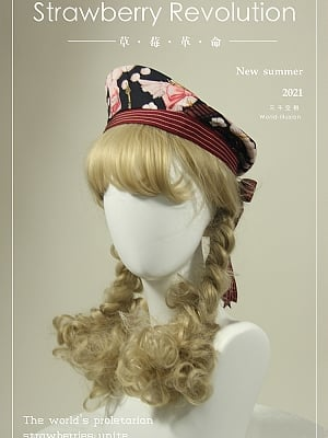 Strawberry Revolution Series Sweet Lolita Beret by World Illusion