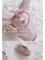 Dots Bowknot Sweet Round Toe Lolita Shoes by Witch's Night Lolita