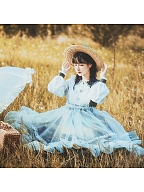 Glimmer Oil Painting Elegant Lolita Dress OP / Overdress by With PUJI