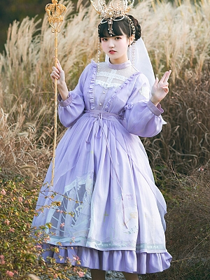 Pensive Pope Elegant Lolita Dress OP by With PUJI