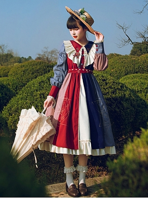 Wheel of Fortune Elegant Lolita Dress OP by With PUJI