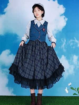 Train of Shadows Lolita Set Skirt / Shirt / Vest by With PUJI