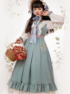 Flower Shadow in Spring Country Style Lolita Dress OP by With PUJI