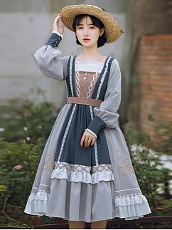 Garden Eve Country Style Lolita Dress OP by With PUJI