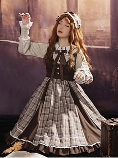 Red Leaves in Autumn Morning Lolita Dress OP by With PUJI