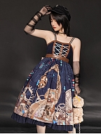Fanatic Assembly Steam Punk Lolita Dress Mechanical Bear Print JSK by With PUJI