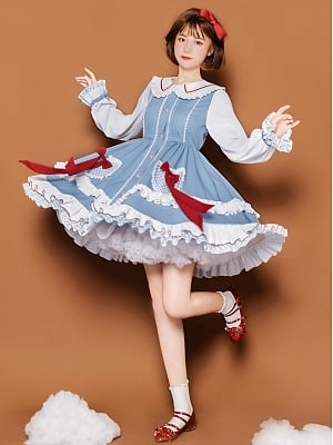 Beckoning Peter Pan Collar Lolita Dress OP by With PUJI
