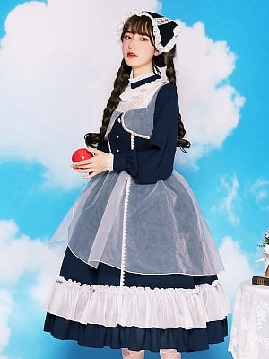 Ode to the Whale High Neck Lolita Dress OP by With PUJI