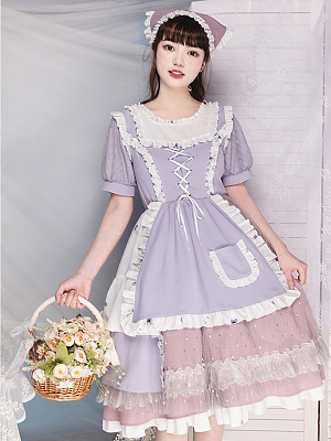 Incense Round Neckline Lolita Dress OP by With PUJI