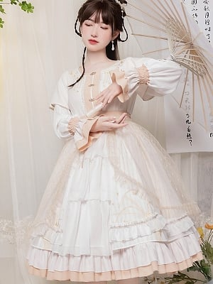 Flying Firefly Round Neckline Han Lolita Dress OP by With PUJI