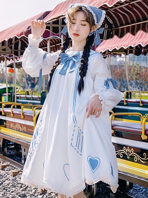 Midsummer Night Sweet Doll Lolita Dress OP Set by With PUJI