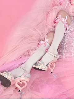 Sweet Beans Macaron Sweet Lolita Dress Matching Stockings by C C Cat