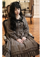 Agatha Incident Book Detective Lolita Dress OP by Sweetwood Lolita