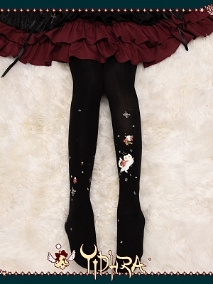 Make a Wish Christmas Tights by Yidhra