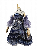 Butterflies and Skulls Prints Gothic Lolita Dress Removable Sleeves Gorgeous Tea Party Lolita JSK / Full Set by YINGLUOFU