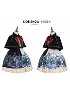 Abyss Punk Lolita Dress JSK Matching Cape by YINGLUOFU
