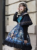 Abyss Gothic Military Style Lolita Short Cape by YINGLUOFU