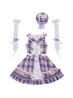 Starlish Plaid Sweet Lolita Idol Dress JSK Set by YINGLUOFU