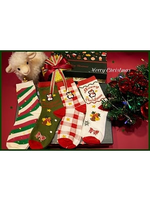 Merry Christmas Lolita Cotton Stockings Set by Yukines Box