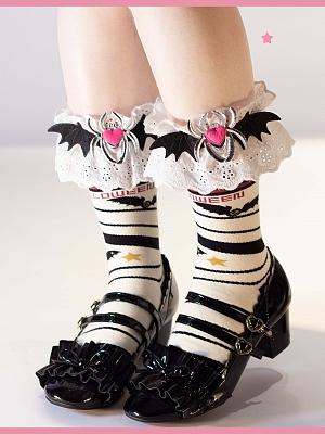 Halloween Lolita Stockings Matching Flounce Legwears / Wristcuffs by Yukines Box
