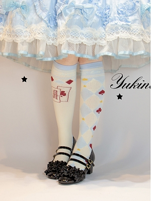 Alice in Wonderland Lolita Asymmetric Stockings by Yukines Box